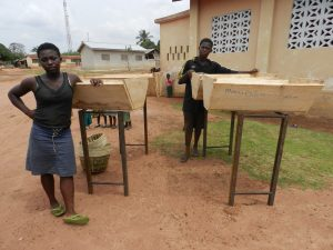 Saviour B, hives delivered to Benin