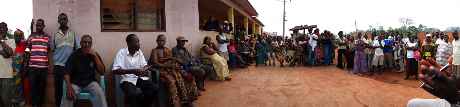 A village meeting in Ashanti Region, Ghana